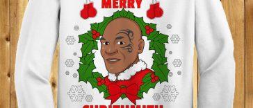 Mike Tyson Merry Chrithmith (WHITE)