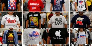 T-shirts for Trump – in pictures