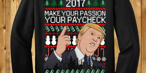 Donald Trump Christmas Money Luck Sweater New Year 2017