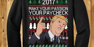 Donald Trump Christmas Money Luck Sweater New Year 2017
