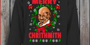 MERRY CHRITHMITH Funny Sweater MIKE TYSON