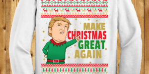 Donald Trump Make Christmas Great Again Chrithmith style Ugly Christmas Sweaters (many colors)