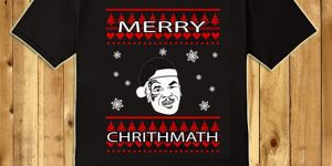 Kids Merry Chrithmath Funny Tyson Christmas T-Shirt 6 Black