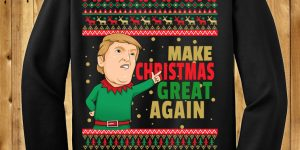Donald Trump Make Christmas Great Again Chrithmith style Ugly Christmas Sweaters