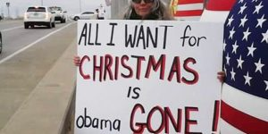 All i want for Christmas is Obama gone