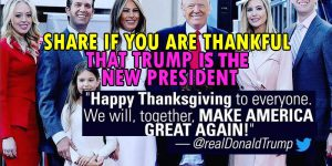 Do you feel thankful that Trump is the new president? SHARE if You Are, or leave a comment